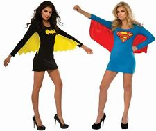 Womens Ladies Sexy Supergirl Bargirl With Wing Dress Superhero Fancy Costume Lot