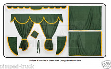 Truck curtains in GREEN (Scania, Man, Volvo, Renault, Iveco, Daf, Mercedes)