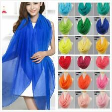 solid color silk scarf spring and autumn women's solid color chiffon scarf cache