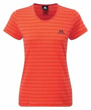 Mountain Equipment Groundup Women's Stripe Tee, Damen-Funktionsshirt, orange