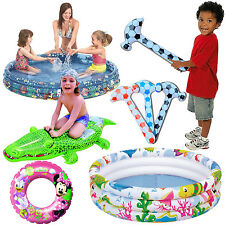 INFLATABLE BABY FLOAT SEAT BOAT BEACH WATER SWIMMING POOL 3 RING PADDLING GARDEN