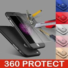 Full 360° Hybrid Acrylic Hard Case Cover+Tempered Glass For iPhone X 8 8Plus 7 5