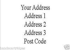 100 Sheets of A4 Pre Printed Return Address Labels with a Laser Printer