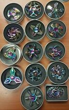 JOB LOT For 50 Design Metal Rainbow Mix Hand Fidget Spinner Hand Toy With Box
