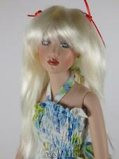 "BEAUTIFUL WHITE BLONDE DOLL WIG SIZE 5/6"" FITS VINTAGE AND MODERN DOLLS"