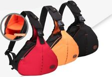 DSLR SLR Camera Triangle Shoulder Bag Case For Canon Nikon Sony Waterproof Nylon