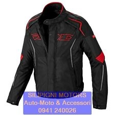 SPIDI TRONIK H2OUT D173 - 021 NERO ROSSO - GIACCA MOTO IMPERMEABILE H2OUT