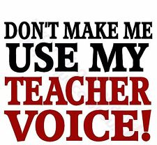 Divertido Dont Make Me Use My Teacher Voice CAMISETA MUJER HOMBRE CH hasta 5xl