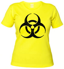 BIOHAZARD VINTAGE SYMBOL GIRLIE SHIRT Big Contamination Bang Hardcore Theory