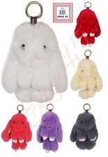 Rabbit Fur Soft Fluffy Bunny Bag Charm Phone Car Accessory Keychain