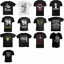 Johnny Cash Mens Kurzarm T-Shirts Verschiedene Styles Official Merchandise