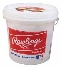 Rawlings Bucket Of 24 Base Balls - Official League Competition Grade Baseballs
