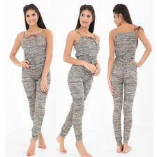 New Womens Ladies Strappy All in One Jumpsuit Playsuit Summer Top Plus Size 8-20