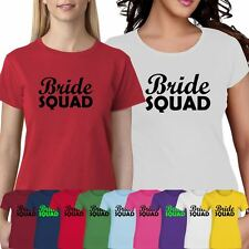 Womens Ladies Personalised Bride Squad T Shirt Hen Do Night Stage Party Top Lot