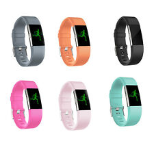 Replacement Silicone Rubber Band Strap Wristband Bracelet For Fitbit CHARGE2 Top