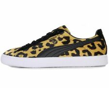 PUMA CLYDE SUITS TRAINERS - BLACK / YELLOW - 363426-02 - EU 43, 44.5 - UK 9, 10