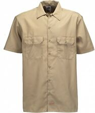 Dickies Short Sleeve Work Shirt 1574 Hemd Größe S in khaki