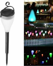 LED Colorful Solar Powered Garden Spot Light Outdoor Landscape Path Lawn Lamp UP
