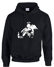HOODIES,BANKSY, FALLEN ANGEL, FUNNY, ARTIST, BANKSY, PRIDE,ANGELS, SMALL-3XL