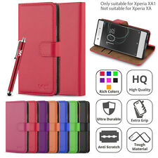 Sony Xperia XA1 (2017) Flip Wallet Leather Book Card Slots Stand View Case Cover