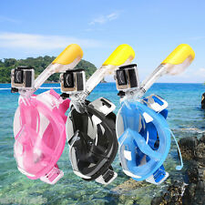 S/M/L/XL Full Face Snorkeling Mask Scuba Diving Swimming Snorkel Breather Pipe