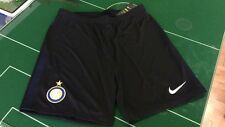 CALCIO FOOTBALL PANTALONCINI SHORTS NIKE 2017/2018 HOME INTER NERO BLACK BREATHE