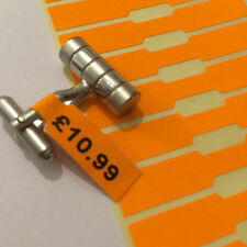 500 Fluorescent Orange Price Tags Dumbell JEWELLERY Labels Self Adhesive Sticker