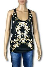 GIVENCHY Top T-Shirt Donna Woman Nero Black Stampa Floreale TG. 40 44