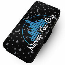 Never Too Old - Disney -Faux Leather Flip Phone Cover Case- Land Walt Mickey #2