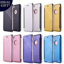 Luxury Smart Mirror Flip Wallet Leather Touch Case for iPhone 7 7 Plus 6s