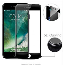 100% 5D Full Coverege Screen Tempered Glass Screen Guard For Apple iPhone 7 Plus
