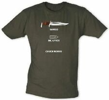 Action Heroes T-Shirt Rambo vs. McGyver vs. Chuck Norris