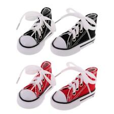 2 Paia di Scarpe di Tela Canvas Shoes per 1/4 Bambole BJD Doll Accessori