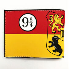 New Harry Potter Hogwarts School of Magic Houses Bifold Wallet Purse anwall10