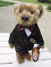 NEW Tag 1999 Pickford Brass Button Furry Teddy Bear DEX 20th Century in Exc Cond