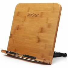 Book Stand Holder Wood Cookbook Reading Portable Adjustable Bookrack Easel NEW