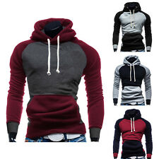 Boys Men Casual Gym Patchwork Athletic Clothes Hoodies Jacket Coats Sweaters