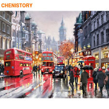 Chenistory Paris Romantic Street Diy Painting By Numbers Modern Wall Art Canvas1