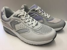 SCARPE CASUAL SNEAKERS DONNA GEOX ORIGINALE HYDEN D2215M SHOES PELLE P/E NEW