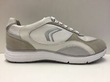 SCARPE CASUAL SNEAKERS DONNA GEOX ORIGINALE DYNAMIC D2205A SHOES PELLE P/E NEW