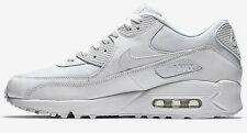 Nike AIR MAX-90 ESSENTIAL MEN'S SHOES Leather Upper WHITE- Size US 10, 11 Or 12