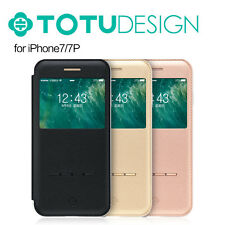TOTU Smart Window Touch Sense Flip Flap Stand Case Cover For Apple iPhone 7