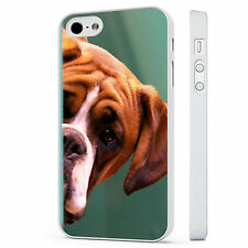 Boxer Dog Cute Funny PHONE CASE COVE WHITE PHONE CASE COVER fits iPHONE 4 5 6 7
