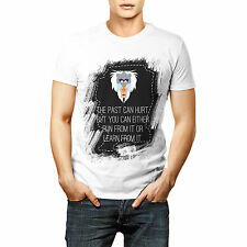 Past Hurt Leave Or Learn Printed Quote T shirt Sports Wear White Round Neck