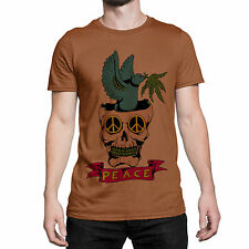 Original Design Peace Skull Polyester Printed T Shirts For Men Graphic Tee