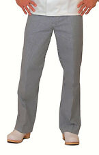 MENS CHEF TROUSER, PLEATED, BLACK & WHITE HOUNDSTOOTH CHECK