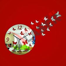 Butterfly designer acrylic wall clock - LCS-A1068 Multi color