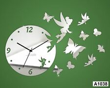 Butterfly Wall Clock Wall Sticker  Multi color -LaserCraftStore-A1038