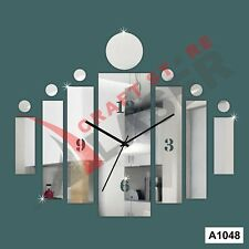 DIY 3D Acrylic Rectangular Strips  wall clock Multicolor-LaserCraftStore-A1048