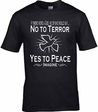 Paz Camiseta ANTI-TERROR if there were a Dios Anti Guerra ATEO CND PALOMA